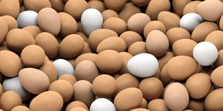 3d rendering eggs background Royalty Free Stock Photography