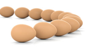 3d rendering eggs on white background Royalty Free Stock Image