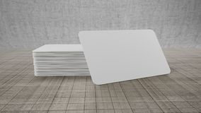 3d rendering of an empty business card on white background. For any usage Royalty Free Stock Photography