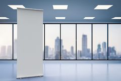 Empty roll up banner Royalty Free Stock Images
