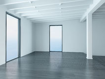 A 3D Rendering of empty white living room Royalty Free Stock Images