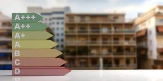 3d rendering energy efficiency rating Stock Photos
