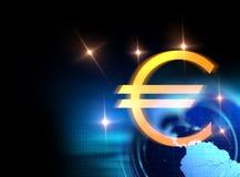 3d rendering euro i europejski zjednoczenie podpisujemy Obraz Stock