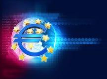3d rendering euro i europejski zjednoczenie podpisujemy Zdjęcie Royalty Free