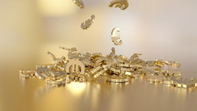 3d rendering euro Opcja w białego złota stylu Obrazy Stock