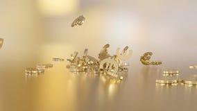 3d rendering euro Opcja w białego złota stylu Obraz Royalty Free