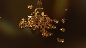3d rendering euro podpisuje zgromadzenie w rozsypisku Obrazy Stock