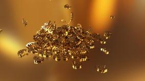 3d rendering euro podpisuje zgromadzenie w rozsypisku Zdjęcia Royalty Free