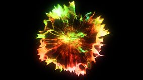 3D rendering of explosion, smoke, effect shock wave and diverging waves. 3D rendering of explosion, smoke, shock wave and divergent waves, isolated on black Stock Photography