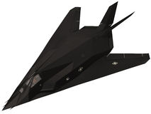 3d Rendering of a F117 fighter royalty free illustration