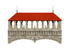 3D Rendering Fairy Tale Bridge on White. 3D rendering of a fairy tale bridge isolated on white background Royalty Free Stock Photo