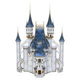 3D Rendering Fairy Tale Castle on White Stock Images