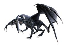 3D Rendering Fairy Tale Dragon on White royalty free stock photo