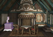 3D Rendering Fairytale Cottage Stock Images