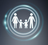 3D rendering family icon Royalty Free Stock Photos