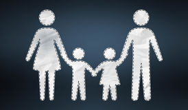 3D rendering family icon Stock Photos