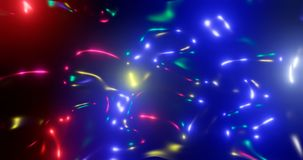 3d rendering. Fantastic background of bright glowing particles in deep space. Bright electric flashes. Fantastic background of bright glowing particles in deep stock illustration