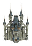 3D Rendering Fantasy Castle on White Stock Image