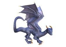 3D Rendering Fantasy Dragon on White royalty free illustration