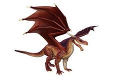 3D Rendering Fantasy Dragon on White Royalty Free Stock Image