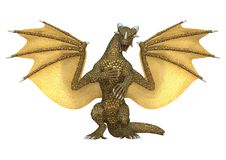 3D Rendering Fantasy Dragon on White. 3D rendering of a fantasy dragon isolated on white background royalty free illustration
