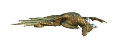 3D Rendering Fantasy Dragon on White. 3D rendering of a fantasy dragon isolated on white background stock illustration