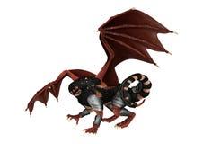 3D Rendering Fantasy Dragon on White Stock Photo