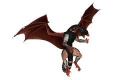 3D Rendering Fantasy Dragon on White Royalty Free Stock Photo