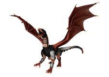 3D Rendering Fantasy Dragon on White Stock Images