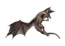3D Rendering Fantasy Dragon on White Stock Image