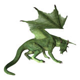 3D Rendering Fantasy Dragon on White Stock Images