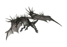 3D Rendering Fantasy Dragon on White Royalty Free Stock Photos