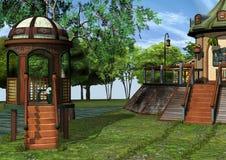 3D Rendering Fantasy Home Stock Photo