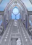 3D Rendering Fantasy Spaceship Stock Photography