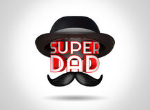 3d rendering Father's Day celebrations concept with stylish text Super Dad. Stock Photography