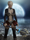 3D rendering of female warrier. Royalty Free Stock Photo