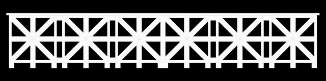 3d rendering of a  fence railing design on a black background. 3d rendering of a fence railing design on a black background Royalty Free Stock Image
