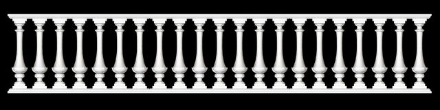 3d rendering of a  fence railing design on a black background. 3d rendering of a fence railing design on a black background Stock Photos