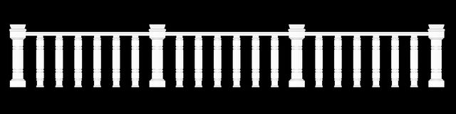 3d rendering of a  fence railing design on a black background. 3d rendering of a fence railing design on a black background Royalty Free Stock Photo