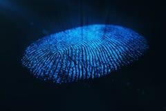 3D rendering Fingerprint Scanning Identification System. Fingerprint scan provides security access. 3D rendering Fingerprint Scanning Identification System Stock Photography