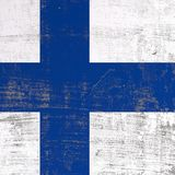 Scratched Finland flag. 3d rendering of Finland flag in a scratched surface Royalty Free Stock Photo