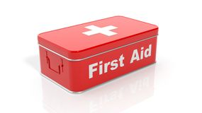 3D rendering of first aid kit. On white background Royalty Free Stock Images