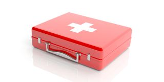 3d rendering first aid kit on white background Royalty Free Stock Photography