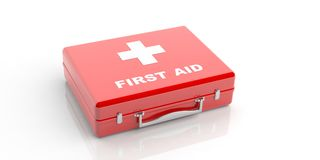 3d rendering first aid kit on white background Royalty Free Stock Photos
