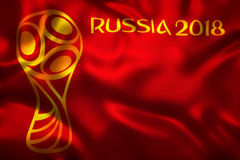 3D Rendering of Flag for World Football 2018  - World Soccer Tournament in Russia Stock Photography