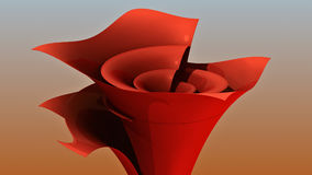 3D rendering. Funnel. Colored stylized funnel from thin sheet. Spatial geometry. Funnel time. Creative flower vase. A conceptual design. Sales funnel Stock Photos