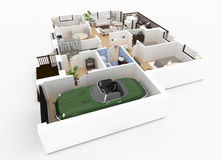 3d rendering of furnished home Stock Photo
