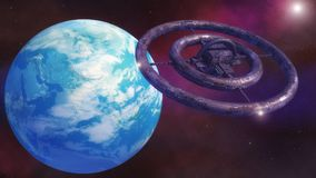 Futuristic alien Spaceship. 3D rendering. Futuristic alien Spaceship stock photo
