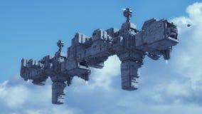 Futuristic alien Spaceship Royalty Free Stock Photos