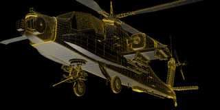 3D rendering of futuristic attack helicopter Royalty Free Stock Photography